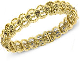 2028 Gold-Tone Glass Crystal Stretch Bangle Bracelet, a Macy's Exclusive Style