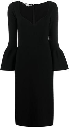 Stella McCartney Bell-Sleeve Jersey Midi Dress