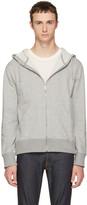 Nudie Jeans Grey Loke Light Zip Hoodie
