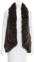 Theory Fur Paneled Vest