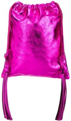 ATTICO Tassel Drawstring Bag