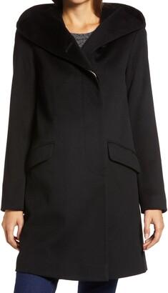 Fleurette Hooded Wool Coat