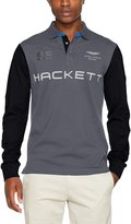Hackett Men's Long Sleeve AMR Polo Shirt XL