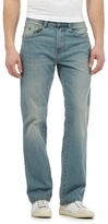 Mantaray Big And Tall Light Blue Mid Wash Loose Fit Jeans