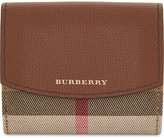 Burberry Luna house check and leather wallet