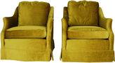 One Kings Lane Vintage Henredon Velvet Chairs, Pair