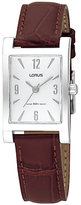 Lorus RRS91JX8 Women's Classic Leather Strap Watch, Brown/Silver