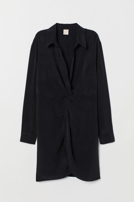 H&M V-neck Tunic - Black