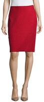 St. John Wool Side Zip Pencil Skirt