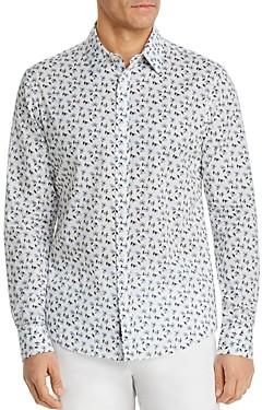 Michael Kors Liberty Harmony Floral Print Button-Down Cotton Shirt