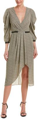 BCBGMAXAZRIA Woven Midi Dress