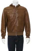 Brunello Cucinelli Leather Cashmere-Trimmed Jacket