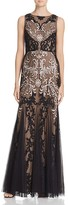 Aidan Mattox Embroidered Gown