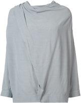 Just Female draped shoulder blouse