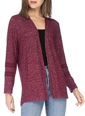 B Collection by Bobeau Lace Trim Cardigan