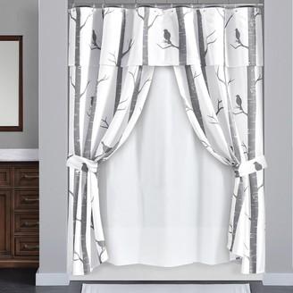 Lush Decor 16-piece Bird On The Tree Double Swag Shower Curtain Set
