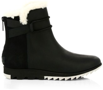 Sorel Harlow Shearling-Lined Leather Ankle Boots