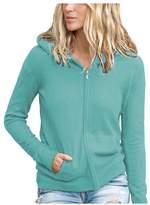 Parisbonbon Women's 100% Cashmere Hooded Cardigan Color Size XS