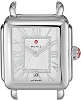 Michele 33mm x 35mm, Deco Madison Diamond Dial Silver Watches