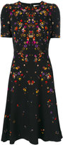 Givenchy night pansy printed tea dress - women - Silk/Spandex/Elastane/Acetate/Viscose - 36