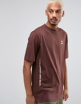Puma T-Shirt In Brown Exclusive to ASOS