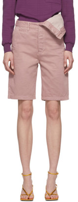 Y/Project Pink Asymmetric Shorts