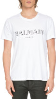 Balmain Short-Sleeve Logo T-Shirt, White