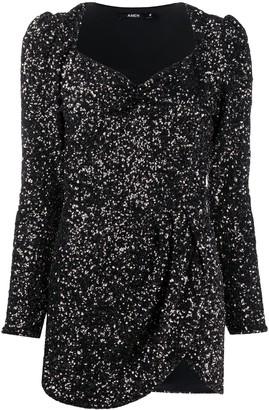 Amen Glitter-Effect Mini Dress