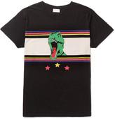 Saint Laurent - Slim-fit Dinosaur-print Cotton-jersey T-shirt