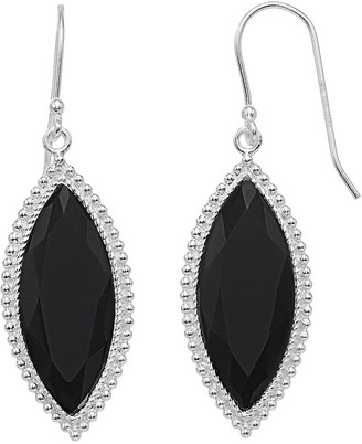 Aleure Precioso Sterling Silver Marquise Drop Earrings