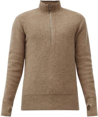 Oliver Spencer Half-zip Wool Sweater - Beige