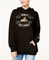 Hybrid Juniors' Sorry Not Sorry Graphic Hoodie