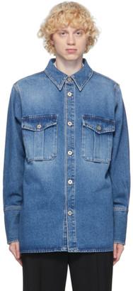 Loewe Blue Denim Patch Pocket Shirt
