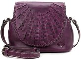 Patricia Nash Oil Rubbed Woven Leather Collection Puccini Saddle Bag