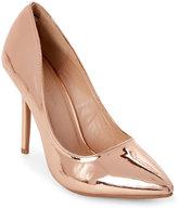 Wild Diva Rose Gold Adora Pointed Toe Pumps