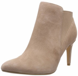 Clarks Women's Laina Violet Ankle Boots Beige (Nude Suede 7 UK