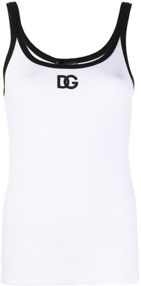 Dolce & Gabbana Logo Print Sleeveless Top