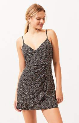 La Hearts Cinched Wrap Dress