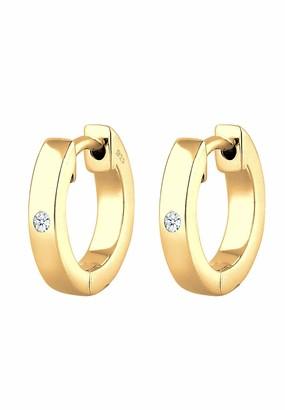 Diamore Earrings Creole Diamant (0.04 ct) Geschenkidee Silber