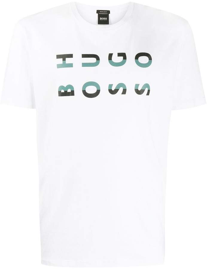 8532e0c0d Hugo Boss White T-shirt - ShopStyle
