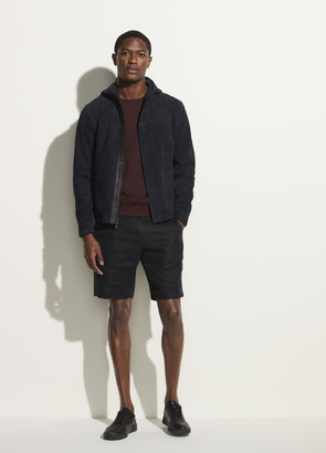 Vince Suede Hooded Shirt Jacket