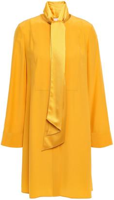 Tory Burch Silk-cady Mini Shirt Dress