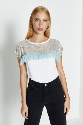 Coast Sequin And Tassle T-Shirt