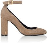 Saint Laurent Women's Loulou Suede Ankle-Strap Pumps