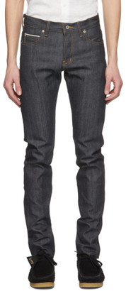 Naked and Famous Denim Blue Super Guy Jeans