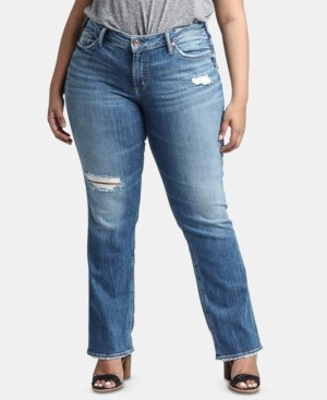 Silver Jeans Co. Trendy Plus Size Suki Straight-Leg Jeans