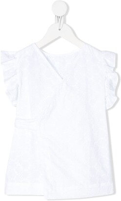 Il Gufo Broderie Anglaise Top