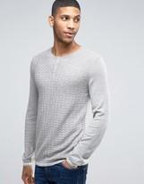 Asos Grandad Neck Sweater in Merino Wool Mix
