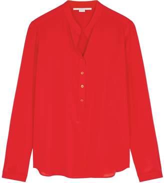 Stella McCartney Eva Red Silk Blouse