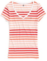 Tommy Hilfiger Final Sale- Short Sleeve Stripe Tee